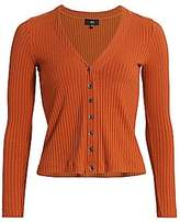 3x1 Women's V-Neck Ribbed Cardigan