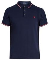Polo Ralph Lauren Striped-trim cotton-piqué polo shirt