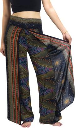 Lanna Lanna Thai Harem Trousers/Wide Pleat Wrap Harem Pants - Yoga