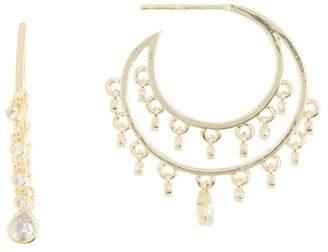 Melinda Maria Diana Fringe Hoop Earrings