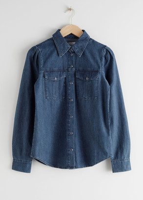 And other stories Organic Cotton Button Up Denim Shirt