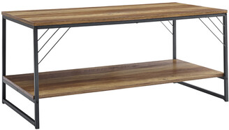 Hewson 40In Industrial Metal Accent Coffee Table