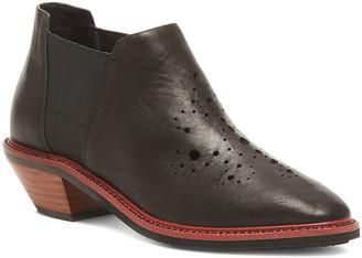 Kelsi Dagger Brooklyn Women's Casual boots BLACK - Black Crestone Leather Ankle Boot - Women