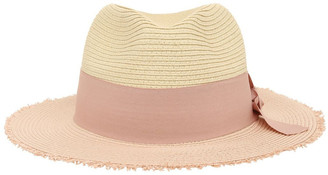 Miss Shop Two-Tone Fedora with Bow Detail