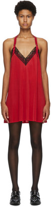 Junya Watanabe Red Lace Slip Dress