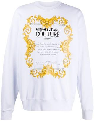Versace Oversized Logo Print Sweatshirt