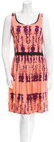 Sophie Theallet Printed Leather-Trimmed Dress w/ Tags