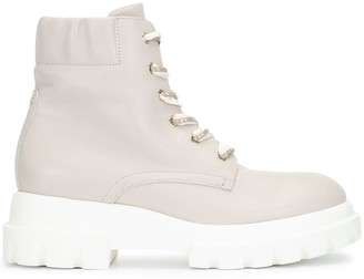 AGL Chunky Sole Lace-Up Boots