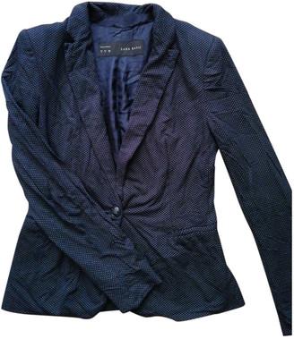 Zara Navy Cotton Jackets