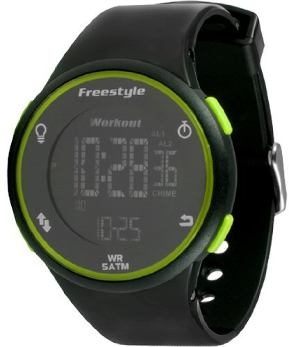 Freestyle (フリースタイル) - [フリースタイル]Freestyle 腕時計 SPRINT 5気圧防水 10LAPメモリー ブラック×グリーン 101376 メンズ 【正規輸入品】