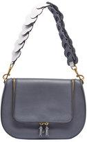 Anya Hindmarch Vere Leather Satchel Bag, Dark Slate