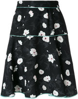 Carven floral flared skirt