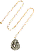 Cvc Stones Patagonia 18-karat Gold, Stone And Diamond Necklace