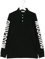 Moschino Kids - Teen long sleeve polo shirt - kids - Cotton - 14 yrs