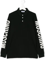 Moschino Kids Teen long sleeve polo shirt