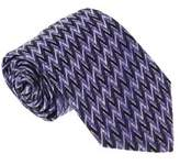 Missoni U4055 Purple/black Chevron 100% Silk Tie.