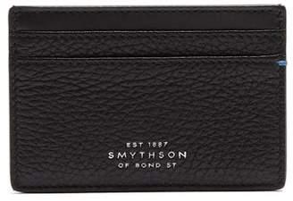 Smythson Burlington Grained Leather Cardholder - Mens - Black