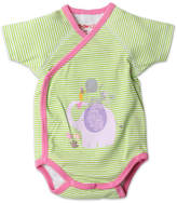 Zutano Girls' Hello Screen Wrap Bodysuit