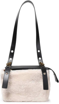 Sophie Hulme The Bolt Shearling And Leather Shoulder Bag
