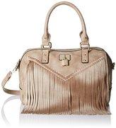 MG Collection Monica Fringe Bowler Shoulder Bag