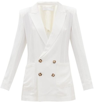 Roland Mouret Talbot Double-breasted Crepe Blazer - White