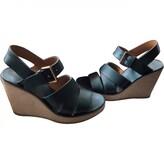APC blue Leather Sandals