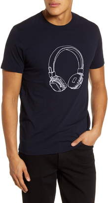 French Connection Headphones Embroidered T-Shirt