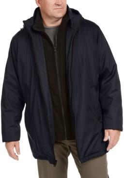 Calvin Klein Men's Big & Tall Ripstop Jacket with Fleece Bib