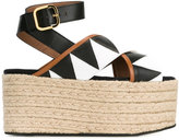 Marni espadrille platform sandals - women - Cotton/Leather/Patent Leather/rubber - 36