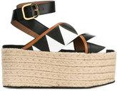 Marni espadrille platform sandals - women - Cotton/Leather/Patent Leather/rubber - 38