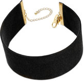 Thalia Sodi Gold-Tone Faux Suede Choker Necklace, Only at Macy's