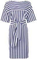 Aspesi striped wrap dress