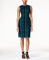 Calvin Klein Petite Flocked Sheath Dress