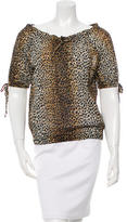 Dolce & Gabbana Leopard Print Off-the-Shoulder Top