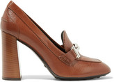 Tod's Embellished Textured-leather Pumps - Tan