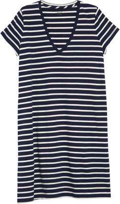 Madewell Northside Vintage Stripe V-Neck T-Shirt Dress