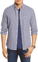 1901 Heather Gingham Linen Blend Slim Fit Sport Shirt
