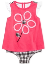 First Impressions Gingham Flower Skirted Romper, Baby Girls (0-24 months)