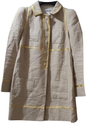 Sonia Rykiel Sonia By Beige Linen Coat for Women