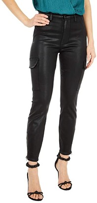 7 For All Mankind Skinny Cargo in Black Coated (Black Coated) Women's Jeans