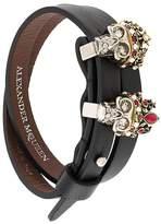 Alexander McQueen queen and king skull bracelet