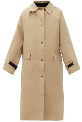 Kassl Editions Original Wax-coated Cotton Trench Coat - Beige