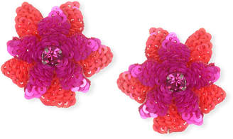 Suzanna Dai Oaxaca Sequin Flower Stud Earrings