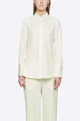 3.1 Phillip Lim Overprinted Button Down Blouse