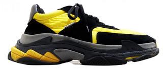 Balenciaga Triple S Yellow Cloth Trainers