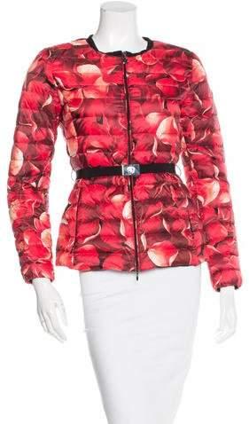 Moncler Floral Print Down Jacket