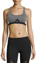 Vimmia Allegiance Colorblock Mesh-Back Sports Bra, Gray/White