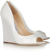 Jimmy Choo Biel patent-leather wedges