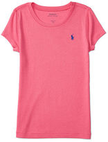 Ralph Lauren 7-16 Cotton-Blend Short-Sleeve Tee