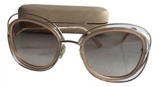 Chloã© ChloA Beige Plastic Sunglasses